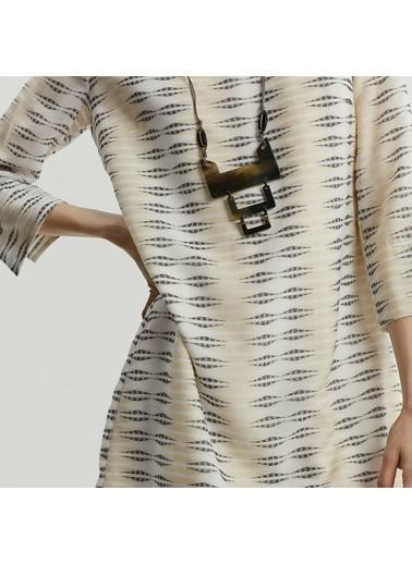 Yargıcı Kadın Sirt Detayli Elbise 9KKEL7109X Beyaz